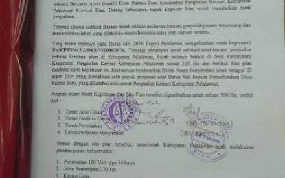 Warga Rantau Baru Resmi Laporkan Polemik Lahan 300 Ha ke Polda Riau