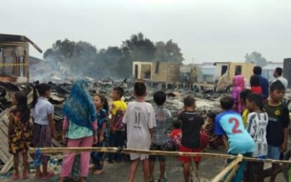 Kebakaran Hebat Melanda, Remaja Panika Gelar Penggalangan Dana