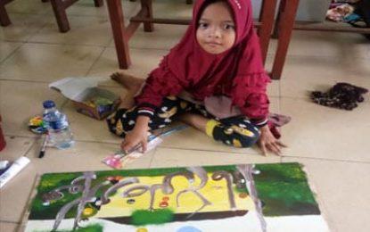 Utusan Kecamatan Palika jadi Peserta Termuda di MTQ Rohil XVI Cabang Kaligrafi