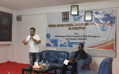 Kuliah Umum Mahasiswa STIE Bentara Persada, Ketua PWI Kepri Bahas Etika Bermedsos