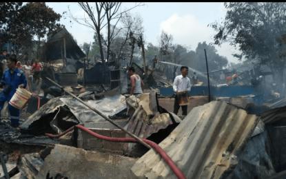 Ruli Kampung Danau Merah Terbakar Ludes