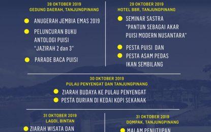 250 Penyair Nusantara Akan Gegap Gempitakan Festival Sastra Internasional Gunung Bintan 2019