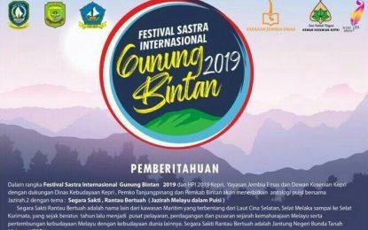 Hitung Mundur Festival Sastra Internasional Gunung Bintan (FSIGB) 2019
