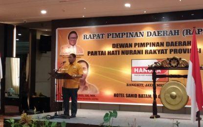 Seluruh Pimpinan dan Pengurus DPC Hanura Hadiri Rapimda di Sahid Hotel Batam