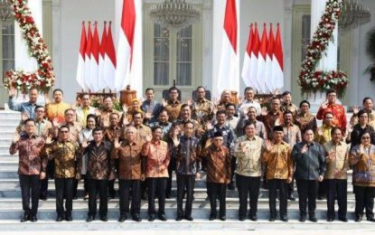 Presiden Jokowi Umumkan Menteri, Ini Susunannya
