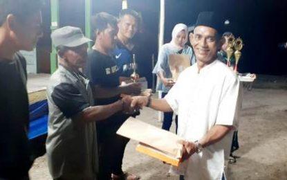 Turnamen Sepakbola Pena'ah Cup Resmi Ditutup, Tim Senempek Berhasil Raih Juara I