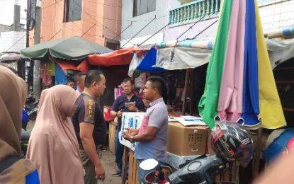 Satpol PP dan UPT Parkir Kecamatan Mandau Tertibkan PKL di Pasar Kota Duri
