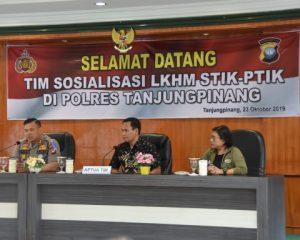 LKHM STIK Gelar Sosialisasi di Polres Tanjungpinang