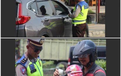 Hari Pertama Razia, Polres Pelalawan Tilang 95 Kendaraan
