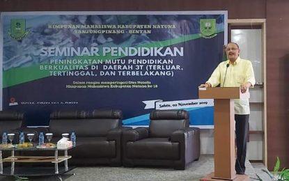 Hamid Rizal: Natuna Bukan Lagi Daerah Tertinggal