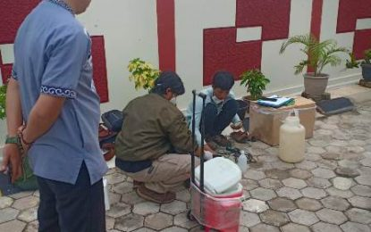 Tim KLHK Periksa Pembuangan Limbah B3 IPLC Medic Centre Karimun