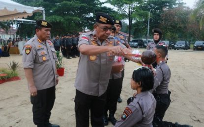 Wakapolda Kepri Pimpin Tradisi Pembaretan Personel Dit Samapta Polda Kepri