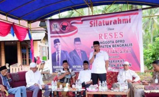 Gelar Acara Silaturahim dan Reses, Ketua Komisi IV Sofyan Tampung Aspirasi Masyarakat Pambang