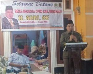 H. Adri Ketua Komisi III DPRD Kabupaten Bengkalis Menjemput Aspirasi Masyarakat Air Jamban Dan Gajah Sakti