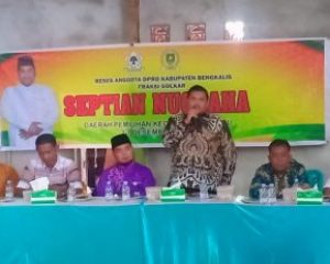 Reses Anggota DPRD Kabupaten Bengkalis Fraksi Golkar Septian Nugraha Dapil Kecamatan Mandau