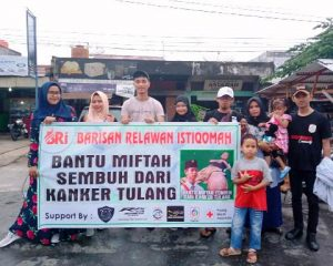 Barisan Relawan Istiqomah Galang Dana untuk Pengobatan Miftah Ulum
