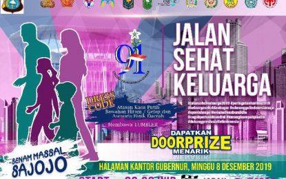 Senam Masal Sajojo dan Jalan Sehat Keluarga Bersama Jajaran Polda Riau