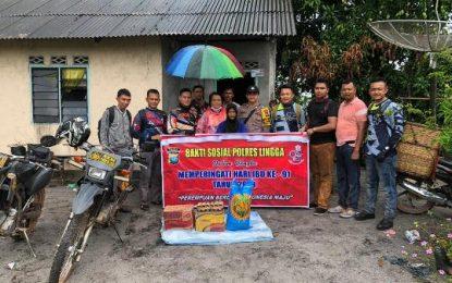 Sambut Hari Ibu 2019, Polres Lingga Bagikan Bantuan kepada Warga Kurang Mampu