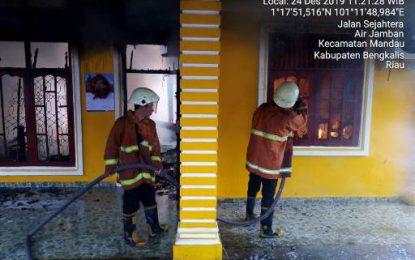 Rumah Permanen Terbakar, Kerugian Ditaksir Puluhan Juta Rupiah