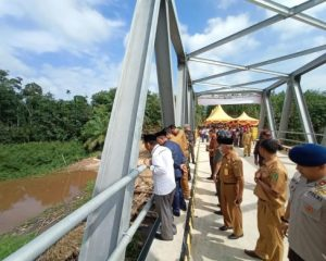 Senangnya Masyarakat Pujud Akhirnya Jembatan Kasang Bangsawan Diresmikan