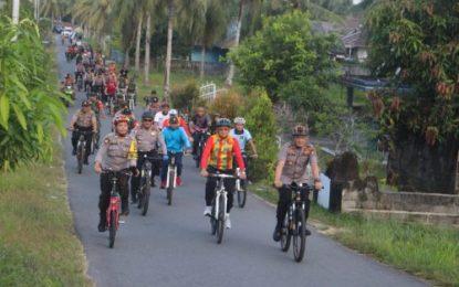 Gowes Sinergitas TNI-Polri bersama Pemerintah Daerah dan Masyarakat
