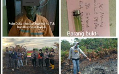 Satuan Reskrim Polres Bengkalis Berhasil Mengamankan Pelaku Pembakaran Hutan dan Lahan