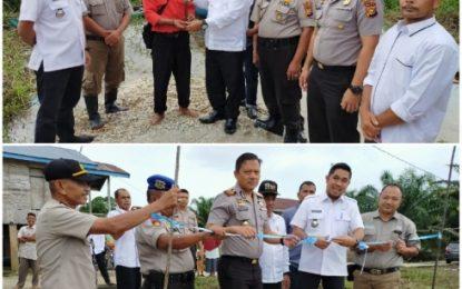 Boat Pompong dari PT. PMBN Resmi Diserahkan kepada Desa Rantau Baru