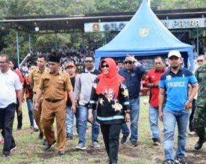 Febriza Luwu Ikut Meriahkan Pembukaan Turnamen Bola Kaki