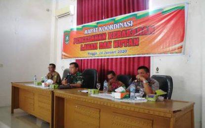Kecamatan Pinggir Gelar Rapat Koordinasi Pencegahan Kebakaran Lahan dan Hutan