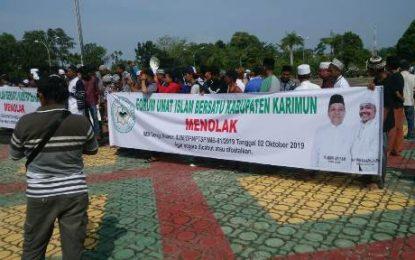 Gelar Aksi Damai, FUIB Karimun Minta IMB Pembangunan Gereja Dicabut