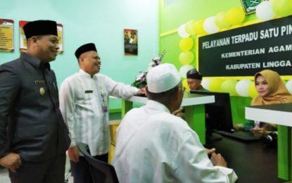 PTSP Kantor Kemenag Lingga Resmi Beroperasi, Ini Pesan Wakil Bupati Lingga, M Nizar