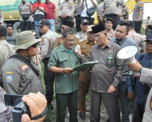 Eksekusi Pembebasan Lahan Jalan Tol Pekanbaru-Dumai Berjalan Damai