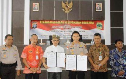 Pemkab dan Polres Lingga Jalin MoU Pembinaan Calon Anggota Polri