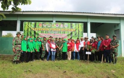 Ratusan Bibit Pohon Ditanam di Lapangan Tembak Kodim Pati