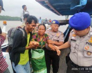 SatpolairudPores Rohil Lakukan Pengamanan di Pelabuhan Oliong