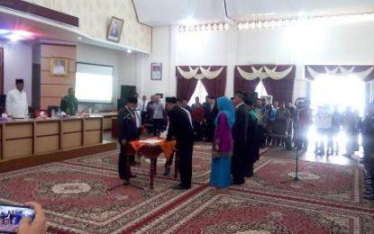90 Panitia Pemilihan Kecamatan se-Kabupaten Rohil Resmi Dilantik