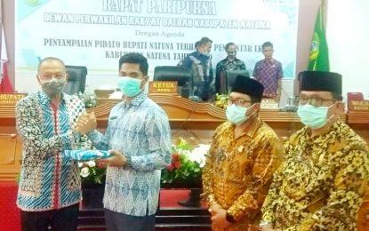 DPRD Gelar Paripurna LKPJ Bupati Natuna