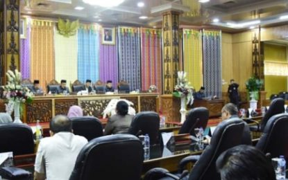DPRD Gelar Rapat Paripurna Propemperda dan Penyampaian 2 Ranperda