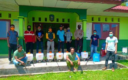 Bersama Pemerintah Desa, KNPI Semprot Disinfektan di Sungai Pinang