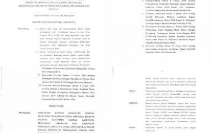 Menkes Setujui dan Keluarkan Keputusan, Bengkalis Juga Wajib Laksanakan PSBB