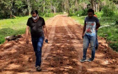 Bupati Suyatno Tinjau Pengerjaan Taman Hutan Kota
