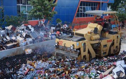 DJBC Kepri Musnahkan Barang Sitaan Senilai Rp 18,2 Miliar