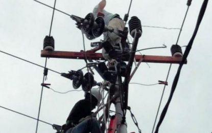 Angin Kencang, Tiang Listrik Milik PLN Tumbang