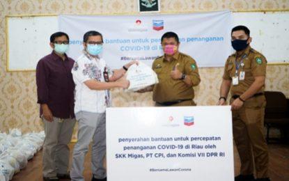 PT. CPI Serahkan 150 Paket Sembako Untuk Kecamatan Mandau