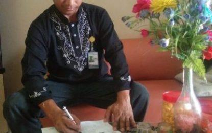Ketua Pemuda Paya Manggis Kawal Penyaluran Bantuan Penanganan Covid-19