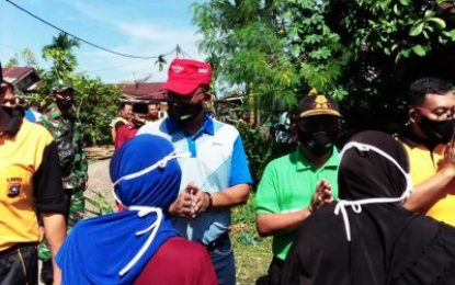 Forkompinda Rohil dan TNI-Polri Gotong Royong bersama Masyarakat