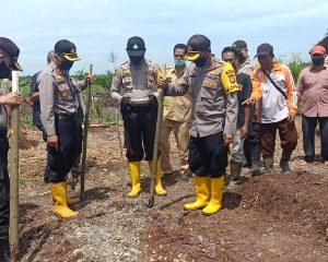 Program Ketahanan Pangan, Kapolres Rohil Tanam Palawija dan Sebar Benih Ikan
