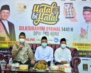 DPW PKS Riau Gelar Halal bi Halal, Ini 3 Kebiasaan Baru New Normal yang Disampaikan Presiden PKS