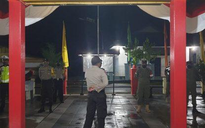Meski Diguyur Hujan, Polsek Daik tetap Semangat Lakukan Patroli Gabungan