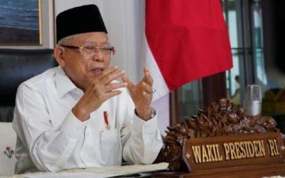 Wapres Ma'ruf Amin Paparkan 4 Syarat Daerah Sebelum Terapkan New Normal